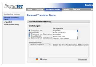 Linguatec Translator Professional Demo
