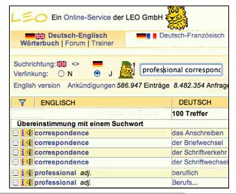 Leo English Deutsch